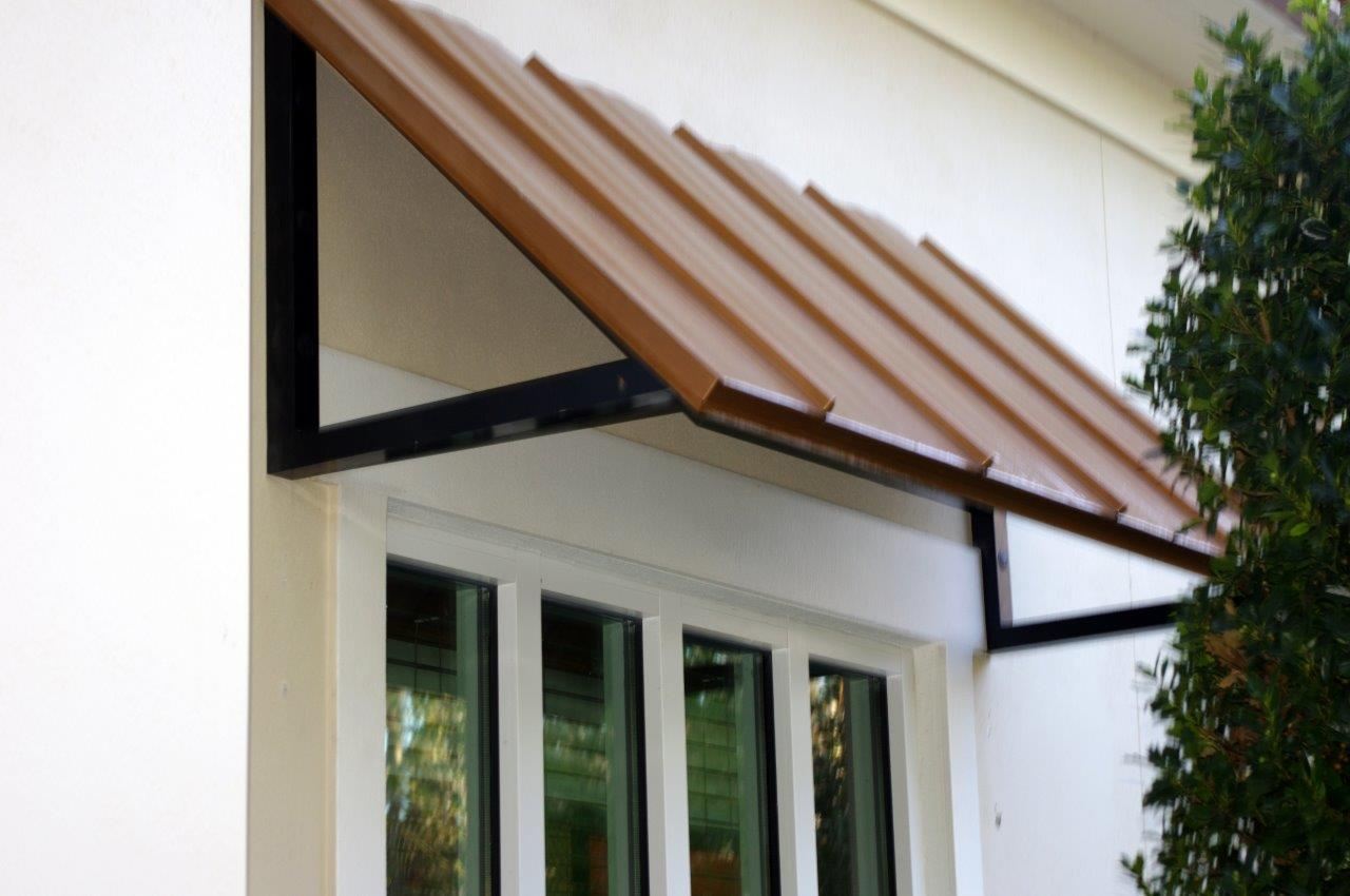Standing Seam Metal Awning Copper Penny Barfield Fence